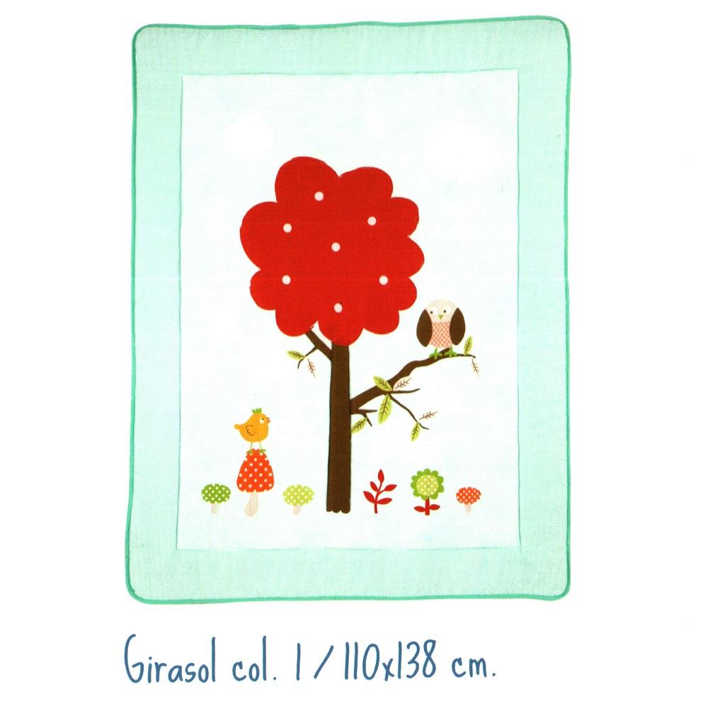 Alfombra Infantil GIRASOL de Scenes. Turquesa 110x138