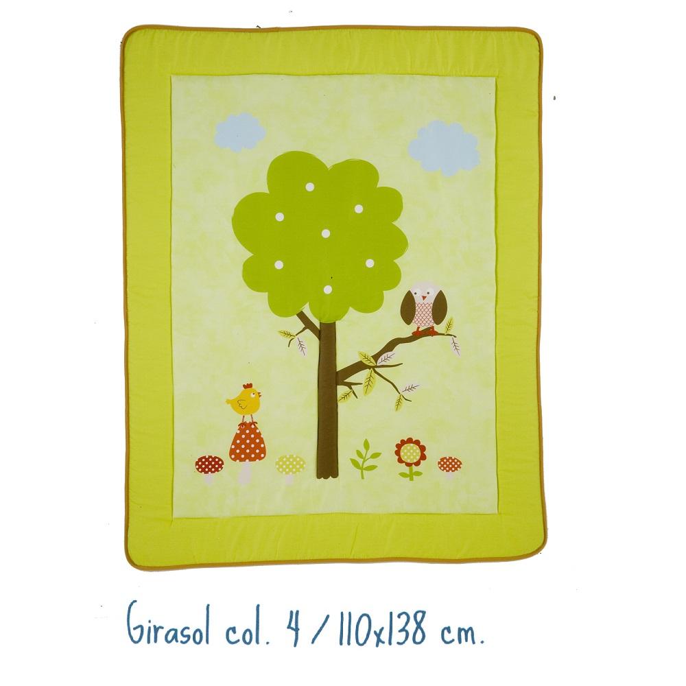 Alfombra Infantil GIRASOL de Scenes. Verde 110x138