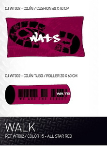 Cojin Walk Rojo