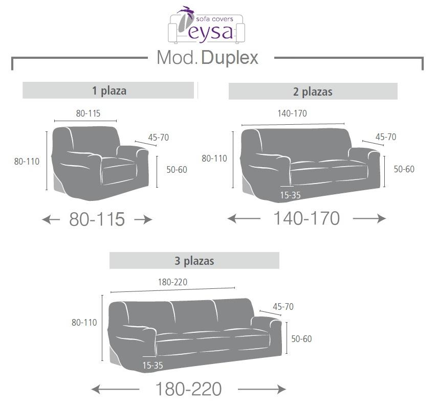 Funda sof duplex dorian de eysa for Medidas sofa 2 plazas