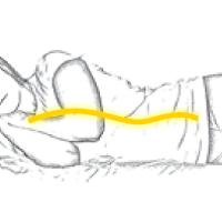 Duermes de lado