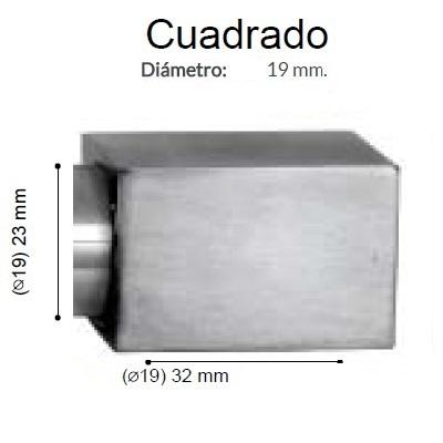 BARRA CORTINA VARADERO CUADRADO ACERO de ALTRAN Anillas Planas Acero Diámetro 19/19 mm Medida Barra 400