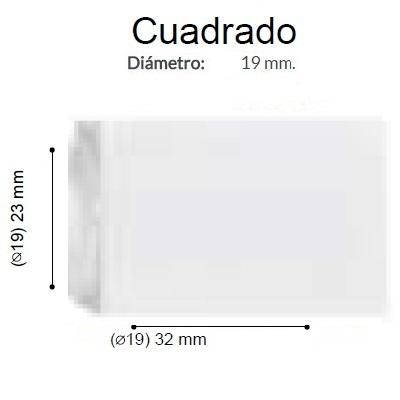 BARRA CORTINA VARADERO CUADRADO BCO de ALTRAN Anillas Planas Blanco Diámetro 19/19 mm Medida Barra 400