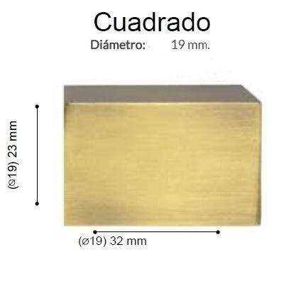 BARRA CORTINA VARADERO CUADRADO CUERO de ALTRAN Anillas Planas Cuero Diámetro 19/19 mm Medida Barra 400