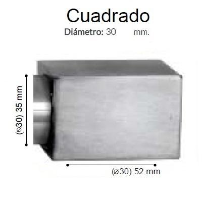 BARRA CORTINA VARADERO CUADRADO ACERO de ALTRAN Anillas Planas Acero Díámetro 30 mm Medida Barra 400