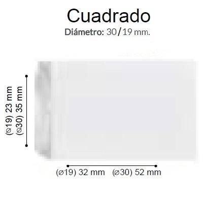 BARRA CORTINA VARADERO CUADRADO BCO de ALTRAN Anillas Planas Blanco Diámetro 30/19 mm Medida Barra 400