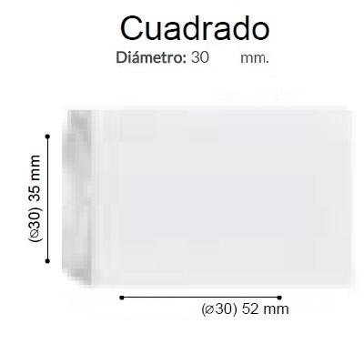 BARRA CORTINA VARADERO CUADRADO BCO de ALTRAN Anillas Planas Blanco Díámetro 30 mm Medida Barra 400