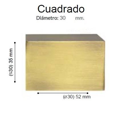BARRA CORTINA VARADERO CUADRADO CUERO de ALTRAN Anillas Planas Cuero Díámetro 30 mm Medida Barra 400