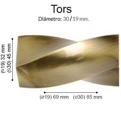 BARRA CORTINA VARADERO TORS CUERO de ALTRAN Anillas Planas Cuero Diámetro 30/19 mm Medida Barra 400