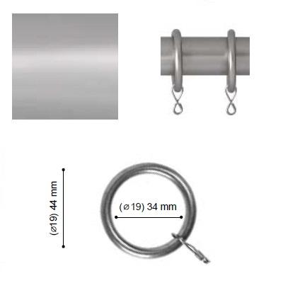 ANILLA VARADERO de ALTRAN Plata Mate Diámetro 19 mm