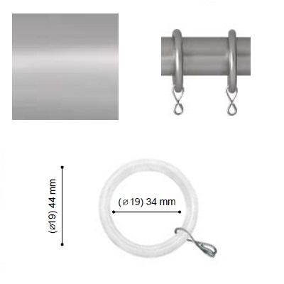 ANILLA CON TEFLON VARADERO de ALTRAN Plata Mate Diámetro 19 mm