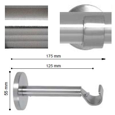 SOPORTE VARADERO EXTENSIBLE PARED de ALTRAN Acero Diámetro 19 mm