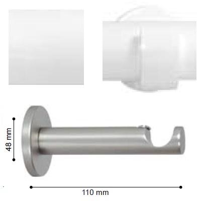 SOPORTE VARADERO PARED de ALTRAN Blanco Diámetro 19 mm