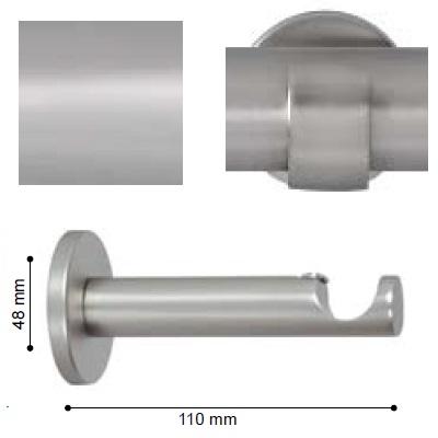 SOPORTE VARADERO PARED de ALTRAN Plata Mate Diámetro 19 mm