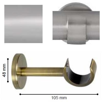 SOPORTE VARADERO PARED de ALTRAN Plata Mate Díámetro 30 mm