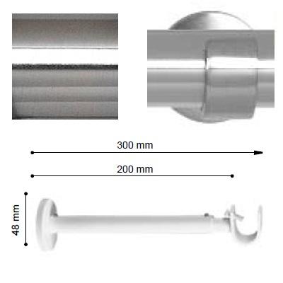 SOPORTE VARADERO EXTENSIBLE PARED EXTRA de ALTRAN Acero Diámetro 19 mm