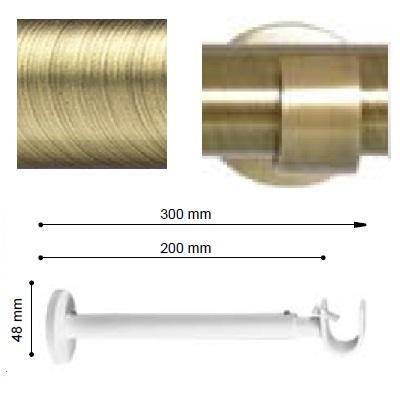 SOPORTE VARADERO EXTENSIBLE PARED EXTRA de ALTRAN Cuero Diámetro 19 mm