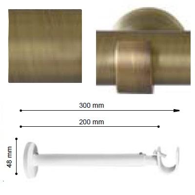 SOPORTE VARADERO EXTENSIBLE PARED EXTRA de ALTRAN Cuero Mate Diámetro 19 mm