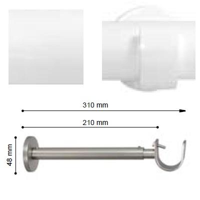SOPORTE VARADERO EXTENSIBLE PARED EXTRA de ALTRAN Blanco Díámetro 30 mm