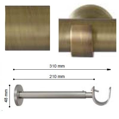 SOPORTE VARADERO EXTENSIBLE PARED EXTRA de ALTRAN Cuero Mate Díámetro 30 mm