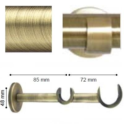 SOPORTE VARADERO PARED DOBLE de ALTRAN Cuero Diámetro 30/19 mm