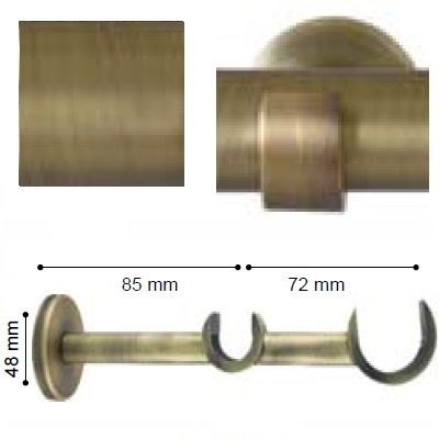 SOPORTE VARADERO PARED DOBLE de ALTRAN Cuero Mate Diámetro 30/19 mm