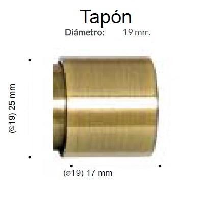 BARRA CORTINA VARADERO TAPON CUERO de ALTRAN Anillas Planas Cuero Diámetro 19/19 mm Medida Barra 400