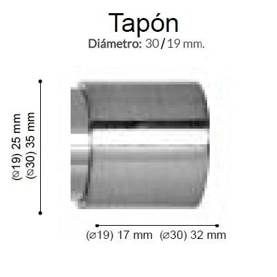 BARRA CORTINA VARADERO TAPON ACERO de ALTRAN Anillas Planas Acero Diámetro 30/19 mm Medida Barra 400