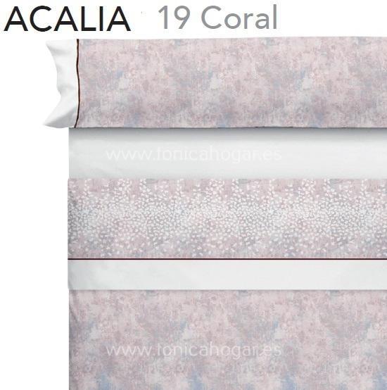 Juego Sabanas ACALIA Coral de CAÑETE Coral 080 Coral 090 Coral 105 Coral 120 Coral 135 Coral 150 Coral 160 Coral 180 Coral 200