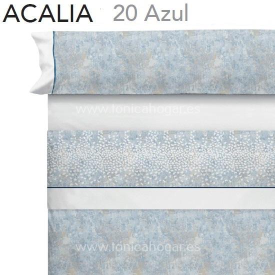 Juego Sabanas ACALIA Azul de CAÑETE Celeste 080 Celeste 090 Celeste 105 Celeste 120 Celeste 135 Celeste 150 Celeste 160 Celeste 180 Celeste 200