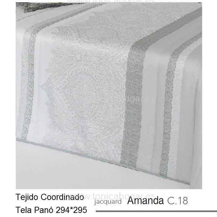 Tejido AMANDA PANEAUX MT Gris de Reig Marti Perla Tela 294x295