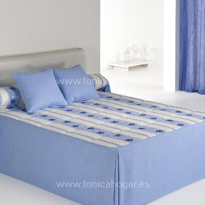 Colcha Edredón BAKAR 01 Azul de Reig Marti. Celeste 090 Celeste 105 Celeste 120 Celeste 135 Celeste 150