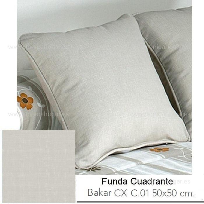 Funda Cuadrante (sin relleno) con relleno Bakar CX de Reig Marti Beig Funda Cojín 50x50