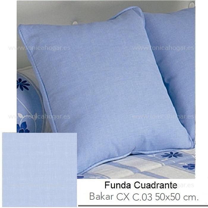 Funda Cuadrante (sin relleno) con relleno Bakar CX de Reig Marti Celeste Funda Cojín 50x50