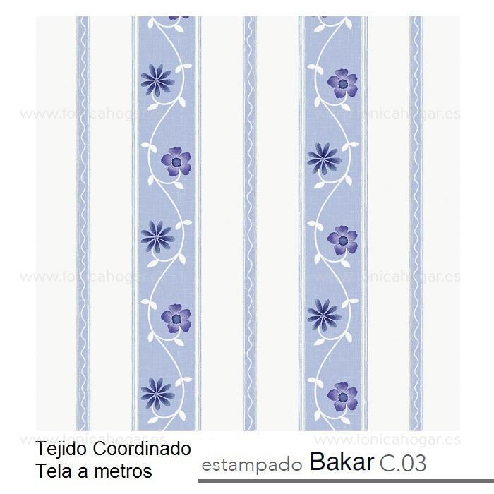Tejido BAKAR MT Azul de Reig Marti Azul Tela Alto 280