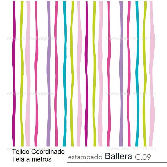 Tejido Infantil BALLERA MT Multicolor de Reig Marti. Multicolor Tela Alto 280
