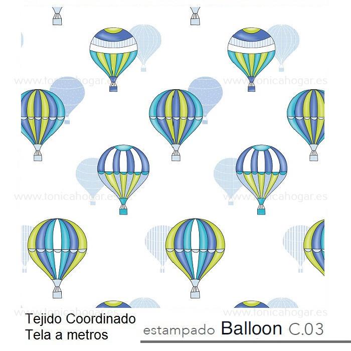 Tejido BALLOON MT Azul de Reig Marti Azul Tela Alto 280