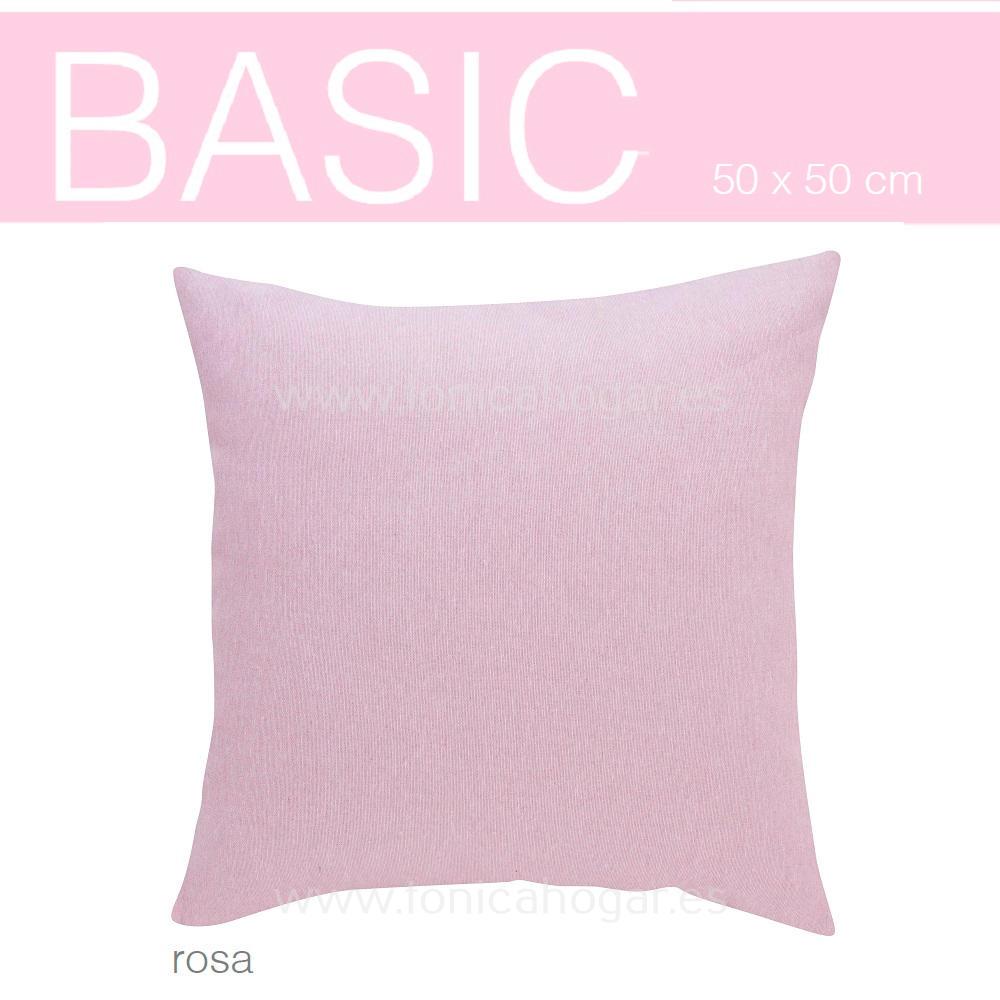 Funda Cojín BASIC de SANSA Rosa BASIC Funda Cojín 50x50