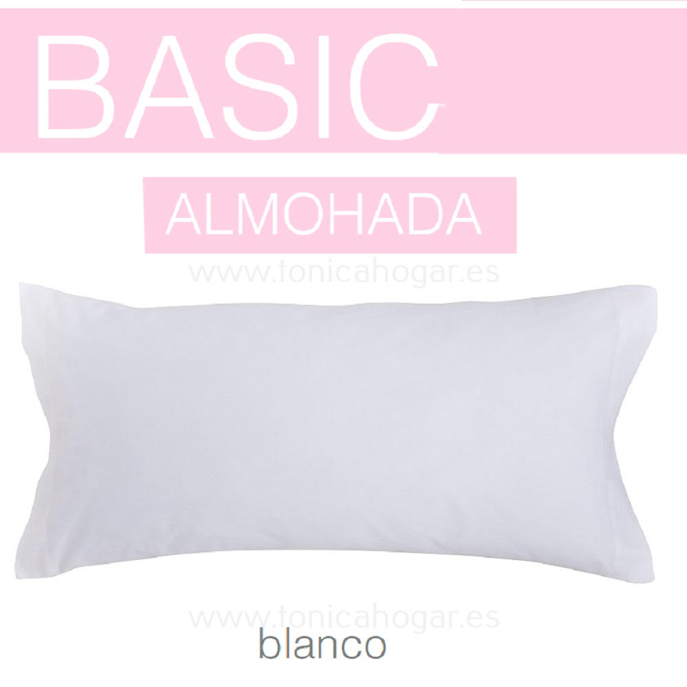 Funda Almohada BASIC de SANSA Blanco BASIC Funda Almohada 090 Blanco BASIC Funda Almohada 105 Blanco BASIC Funda Almohada 135 Blanco BASIC Funda Almohada 150 Blanco BASIC 2 Fundas Almohadas 070 (2 de 45x75)