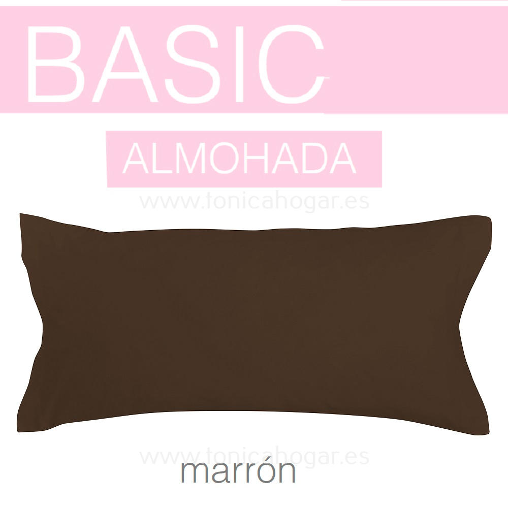 Funda Almohada BASIC de SANSA Marrón BASIC Funda Almohada 090 Marrón BASIC Funda Almohada 105 Marrón BASIC Funda Almohada 135 Marrón BASIC Funda Almohada 150 Marrón BASIC packfundasalmohadas0702-45x75