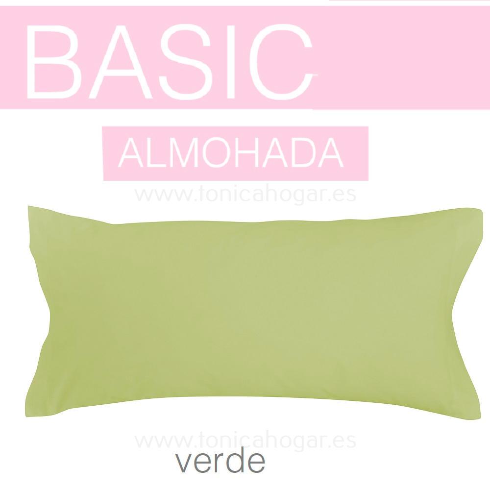 Funda Almohada BASIC de SANSA Verde BASIC Funda Almohada 090 Verde BASIC Funda Almohada 105 Verde BASIC Funda Almohada 135 Verde BASIC Funda Almohada 150 Verde BASIC 2 Fundas Almohadas 070 (2 de 45x75)