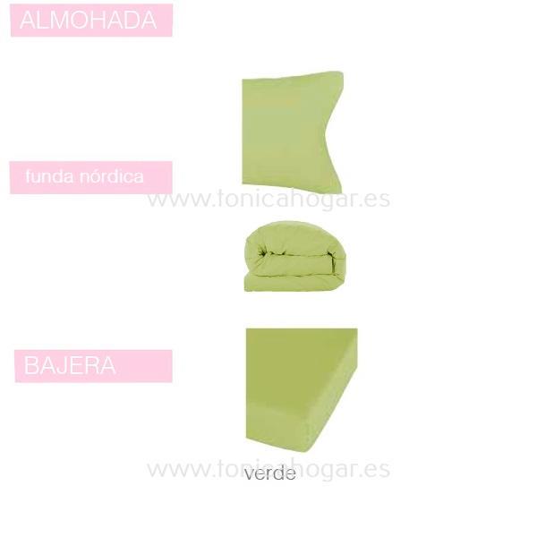 Juego Funda Nórdica BASIC de SANSA Verde BASIC 090 Verde BASIC 105 Verde BASIC 135 Verde BASIC 150 Verde BASIC 160 Verde BASIC 180 Verde BASIC 200