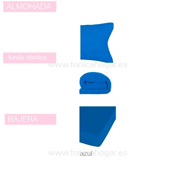 Juego Funda Nórdica BASIC de SANSA Azul BASIC 090 Azul BASIC 105 Azul BASIC 135 Azul BASIC 150 Azul BASIC 160 Azul BASIC 180 Azul BASIC 200