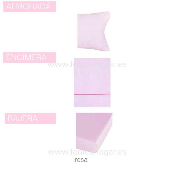 Juego Sabanas BASIC de SANSA Rosa BASIC 090 Rosa BASIC 105 Rosa BASIC 135 Rosa BASIC 150 Rosa BASIC 160 Rosa BASIC 180