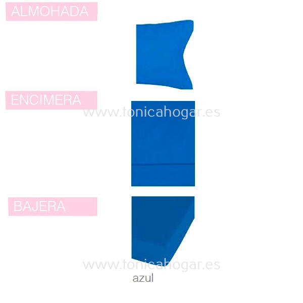 Juego Sabanas BASIC de SANSA Azul BASIC 090 Azul BASIC 105 Azul BASIC 135 Azul BASIC 150 Azul BASIC 160 Azul BASIC 180 Azul BASIC 200