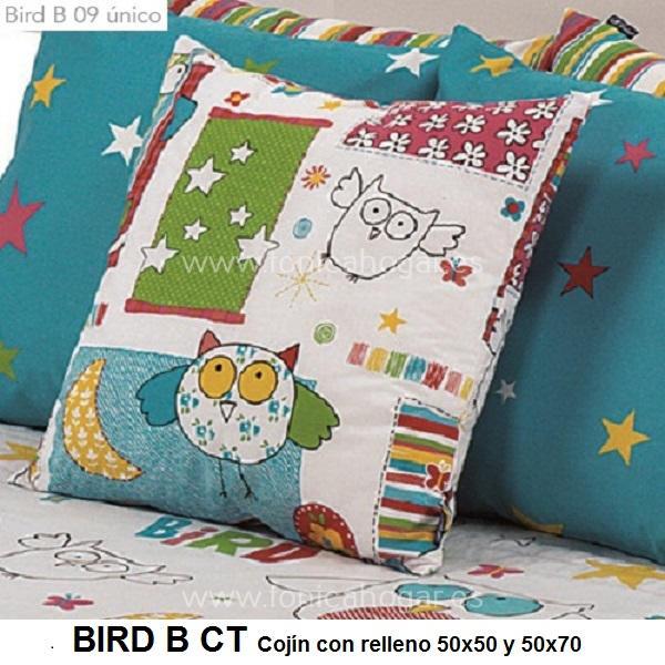 Cojín Infantil BIRD B de CAÑETE Multicolor Cojín 30x50 Multicolor Cojín 50x50 Multicolor Cojín 50x70