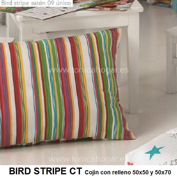 Cojín Infantil BIRD STRIPE de CAÑETE Multicolor Cojín 30x50 Multicolor Cojín 50x50 Multicolor Cojín 50x70