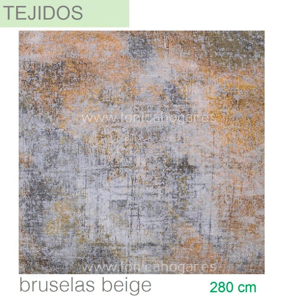 Tejido estampado digital BRUSELAS Beig de SANSA Piedra Tela Alto 280