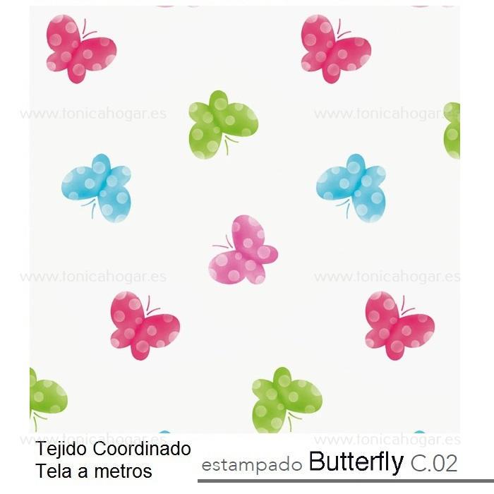 Tejido BUTTERFLY MT Multicolor de Reig Marti Multicolor Tela Alto 280