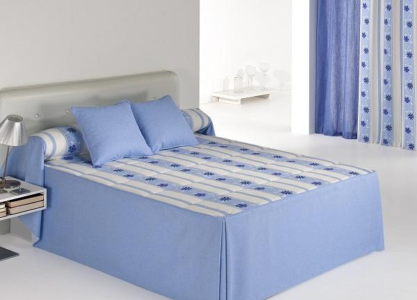 Colcha edredón Bakar 01 de Reig Marti Azul 150